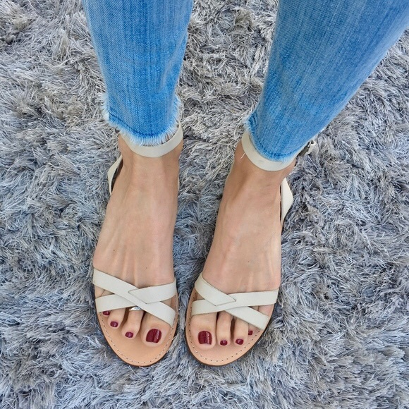3fac43ec94e1 Madewell Boardwalk Ankle Sandals in Dried Flax 8.5